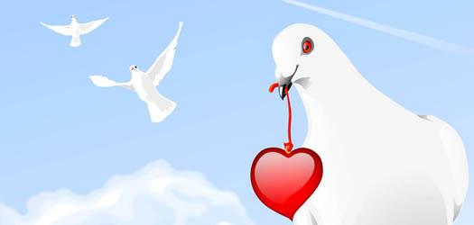 Гадание на любовь онлайн - Голубка